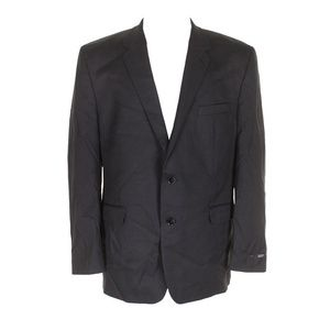 Alfani Mens Charcoal Gray Traveler Single Blazer